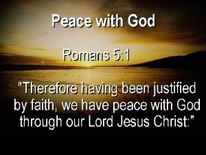 Peace with God (Romans 5:1)