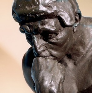 Statue of The Thinker by Auguste Rodin (1840-1917)