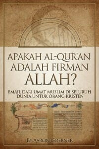 """Gambar cover buku, """"Apakah Al-Quran Adalah Firman Allah?"""" Klik gambar untuk mengunduh buku ini dalam format PDF."""