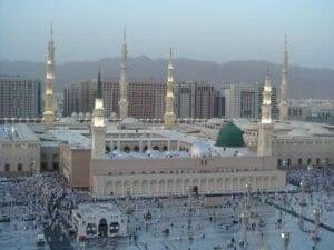 Masjid Nabi (Masjid Nabawi) di Madinah, yang diyakini umat Muslim sebagai tempat Yesus akan dimakamkan di sisi Muhammad kelak.