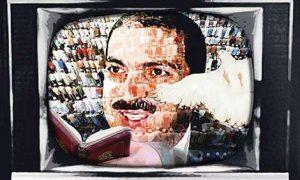 Illustration of the Muslim televangelist, Amr Khaled
