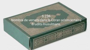 6.236, Nombre de versets dans le Coran selon certains érudits musulmans.