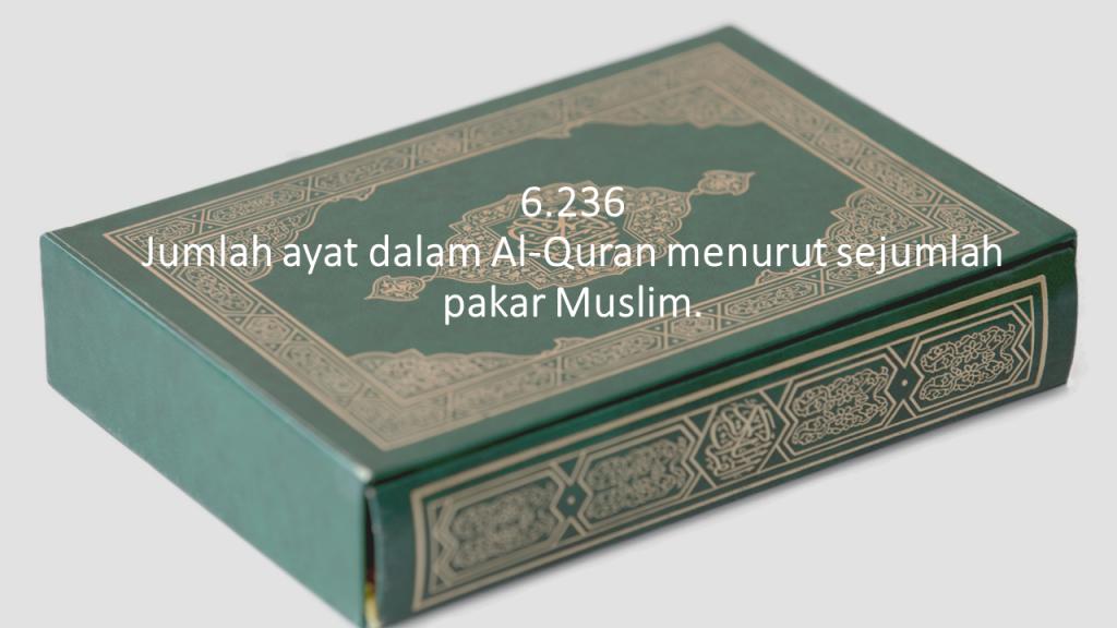 Jumlah ayat dalam Al-Quran menurut sejumlah pakar Muslim.