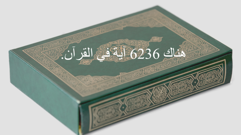 رسم يقول أن هناك 6236 آية في القرآن.