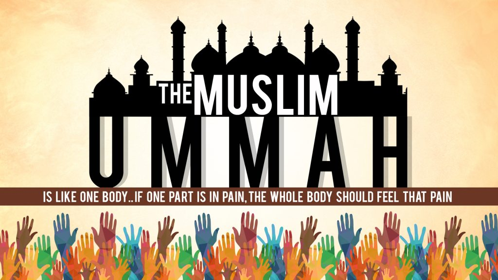 A picture showing the unity of the Muslim community (ummah).