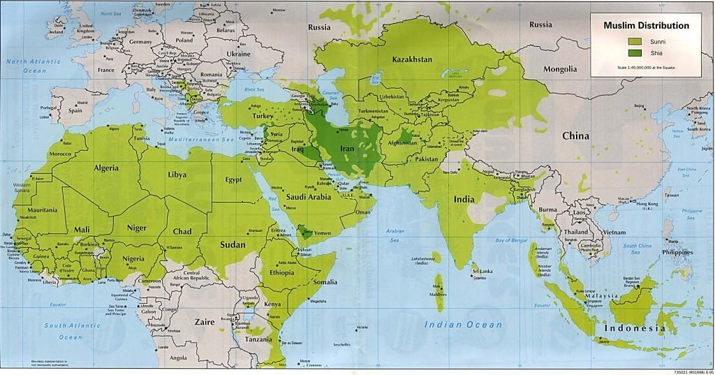 Sunni Shia Distribution Map