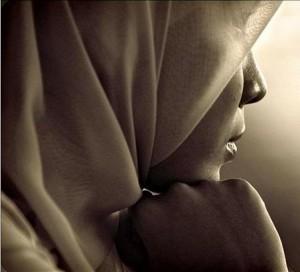 Muslim Woman Thinking