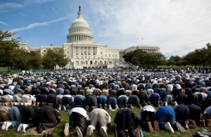 Muslims gather to pray at the Capitol in Washington, D.C.